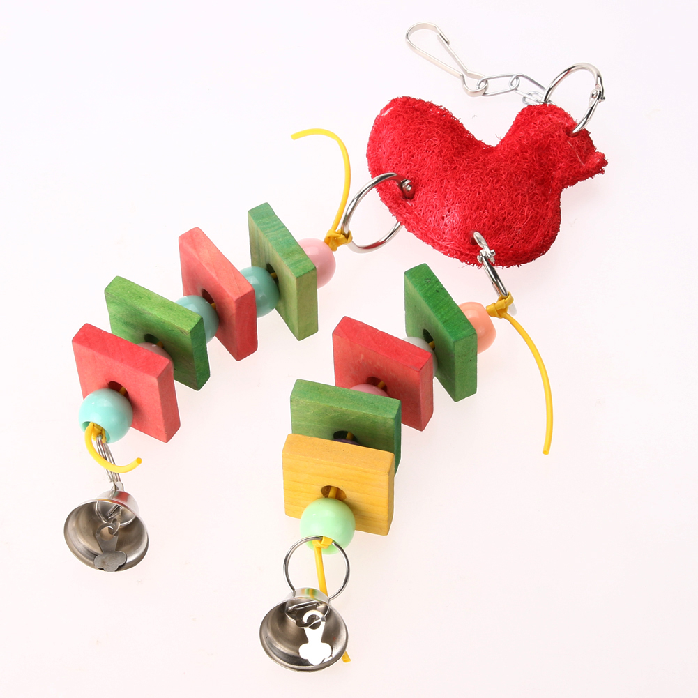 Птицы Попугай Птица укус игрушки Красочные Жевательная игрушки Качели Попугай клетке cockatiel игрушка для птиц домашних животных