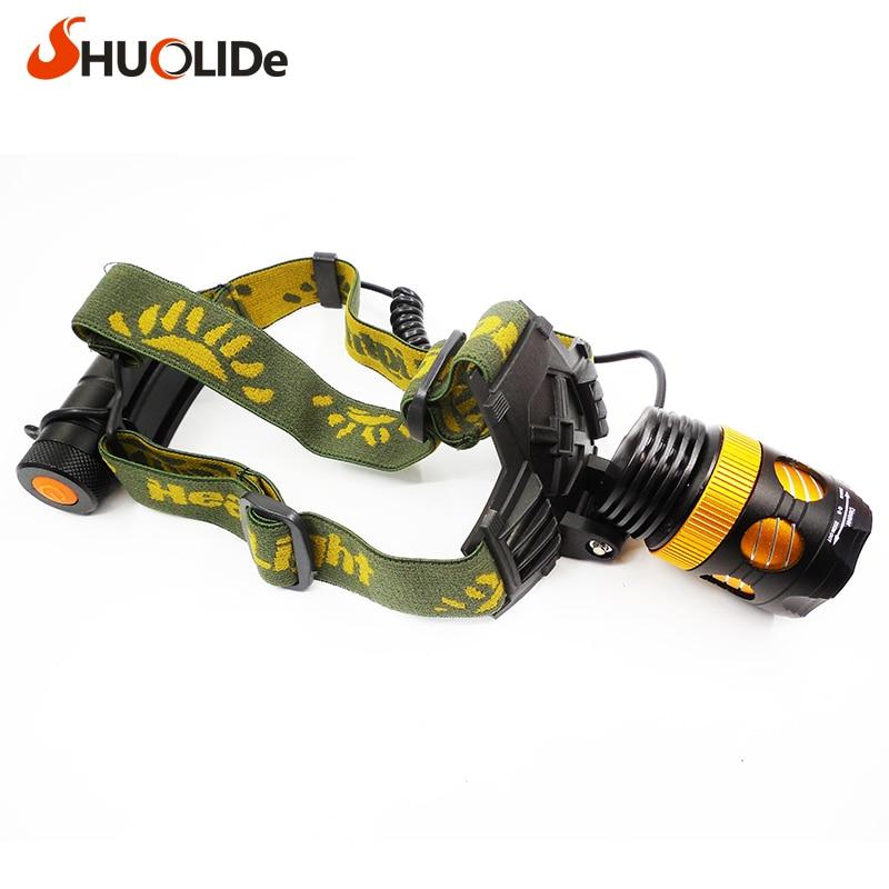 SHUO LI DE SLD-TK87 Focus T6 Flashlight Headlamp for  Fishing hunting Hiking biking linterna frontal head torch head lantern 557t283nf5b05b d sub backshells ltwght sld band top m srw cl mr li