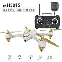 Новый Hubsan H501S Радиоуправляемый Дрон X4 5.8 Г FPV системы 10CH 6 Ось гироскопа 2.4 ГГц бесщеточный Quadcopter с 1080 P HD Камера GPS усовершенствованная версия
