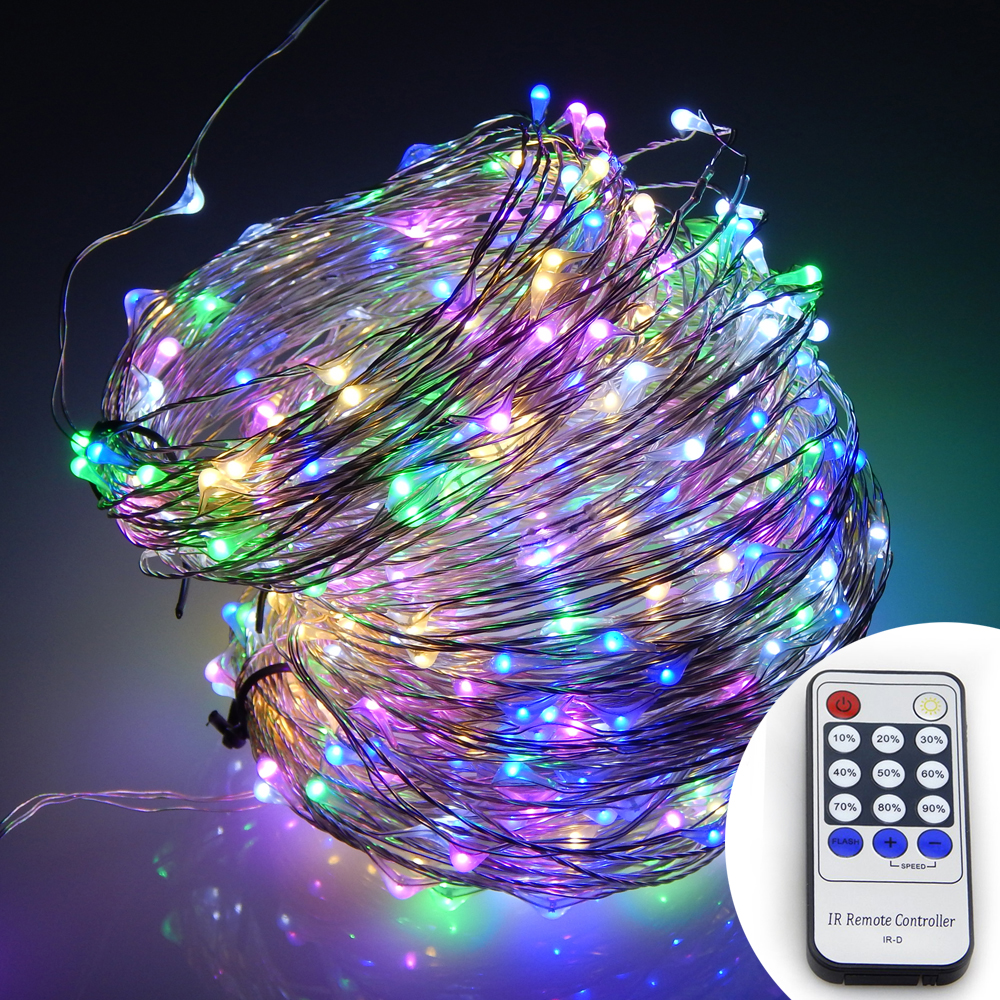 Varmt Hvit Lys 20M / 30M / 50M LED Sølv Wire String Lights Holiday - Ferie belysning - Bilde 4