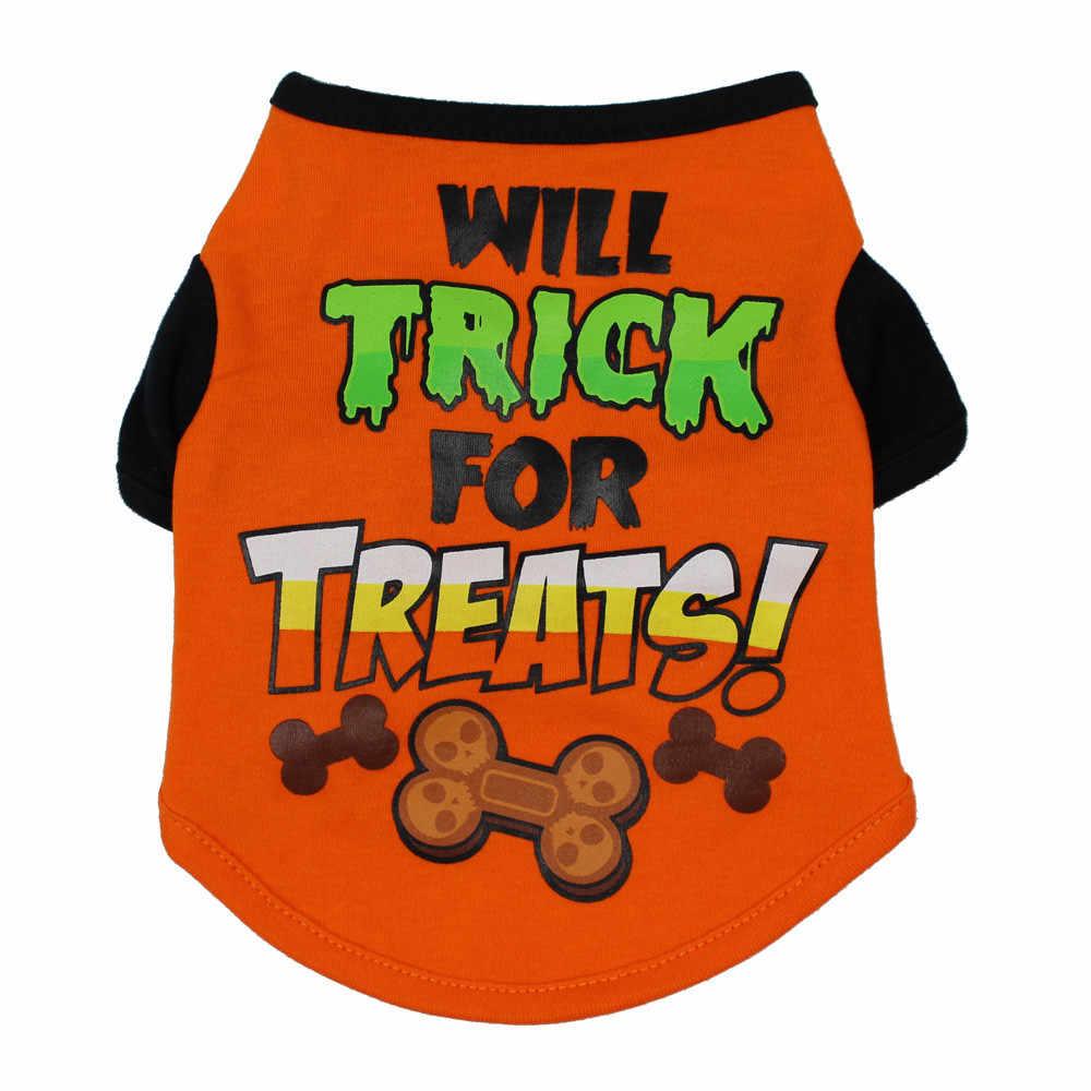 Крутые футболки для милых домашних животных на Хэллоуин, одежда для маленьких щенков, костюм, одежда, костюм, куртка с котом, одежда для щенков, лидер продаж