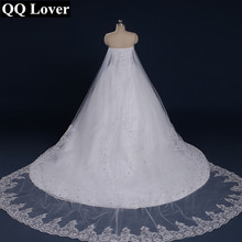 QQ Lover 2020 New Tube Top Crystal Luxury Plus Size Wedding Dress Bridal gown 2020 vestido