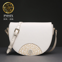 Pmsix 2017 Chinese Style fashion Chinese style original leather shoulder bag Messenger packet packet clamshell P320002