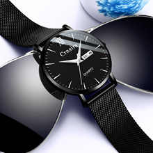 лучшая цена 2018 Reloj Fashion Large Dial Military Quartz Men Watch Leather Sport Watches Classic Clock Wristwatch Relogio Masculin