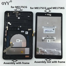 capacitive touch screen LCD Display Digitizer Glass Assembly with frame For Asus Fonepad 7 Memo HD 7 ME175 ME175CG K00Z