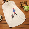 2017 Spring Woman Embroidery Blouses Loose Cotton Maternity Shirt Clothing Pregnant Women Clothes Brand Shirt for Pregnant Woman