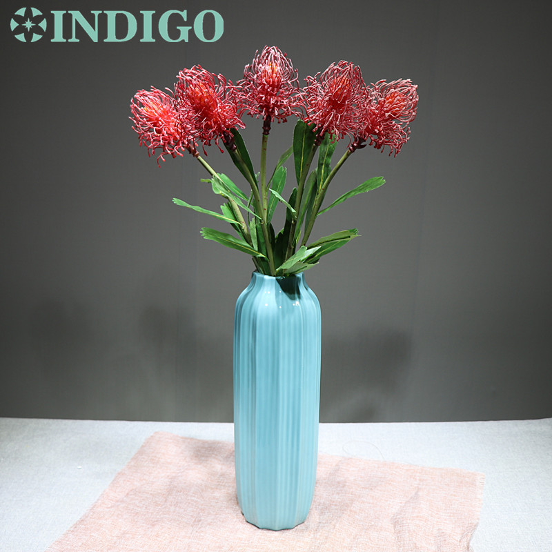 5pcs Red Leucospermum Cordifolium Hydrangea Nutans Flower Wedding Floral Event Party Table Free Shipping