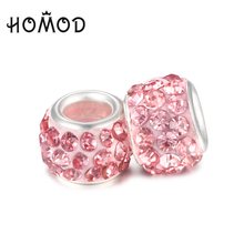 HOMOD 2017 Newest Authentic Original Charm Beads Inlaid With Multiple Imitation Pearl Fit Diy Bracelet for Woman Gift
