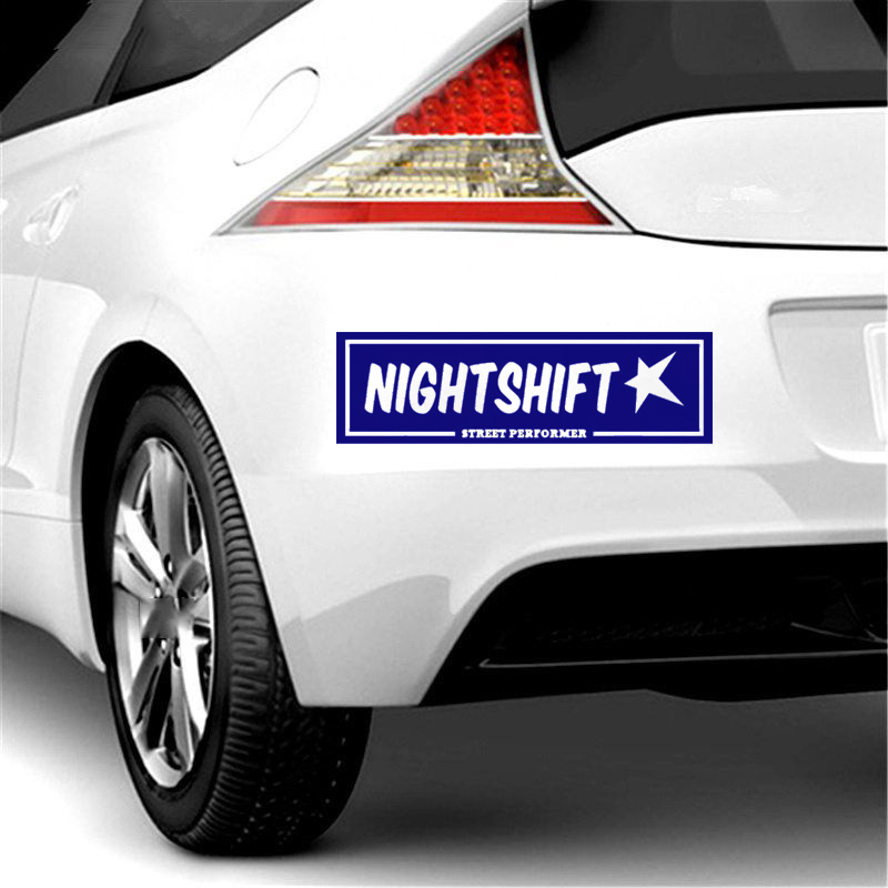 NightShift street performer box slap sticker JDM car stance window bumper decal in Car Stickers from Automobiles Motorcycles