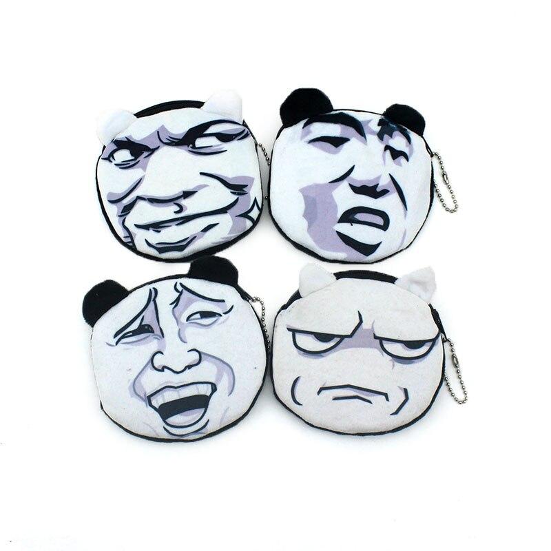 2017 Oval 3D Funny Comics Children Zipper Coin Bags Women Mini  Storage Pouch Grils Cute Wallets Kids Coin Purses Card Holders