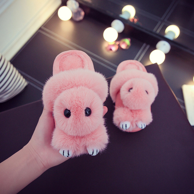 1c6ab54438075 Kids Girls Cotton Slippers Winter Home Shoes Children Boys Cartoon Indoor  Slippers Cute Thick Plush Shoes