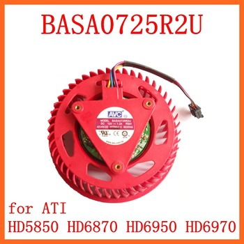 Free Shipping new AVC BASA0725R2U 12V 1.2A for ATI HD4850 HD4870 HD4890 HD 4980 HD5870 HD5970 graphics card fan turbine image