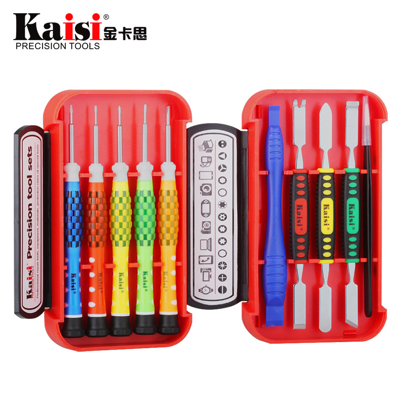 Kaisi 10 in 1精密ドライバーセットツールプロのコンピューター修理ツールiPhone 4,4s、5s、6sの携帯電話修理