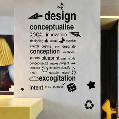 Wonderful Specials Wall English Design Wall Stickers Company Corporate Office And  Creative Wall Stickers Part 20