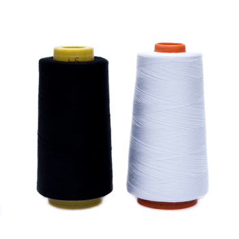New Durable 3000M Yards Overlocking Sewing Machine Industrial Polyester Thread Metre Cones Metre Cones Black White Sew Thread image