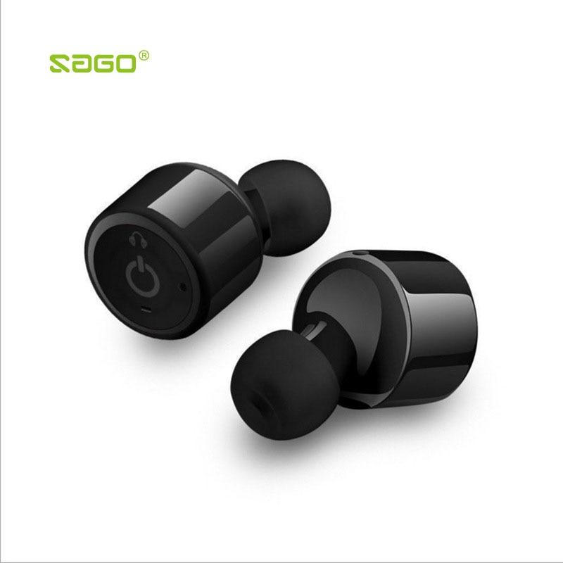 Sago X1T True wireless mini earbuds In Ear earphone invisible bluetooth CSR4 2 headset sports handfree
