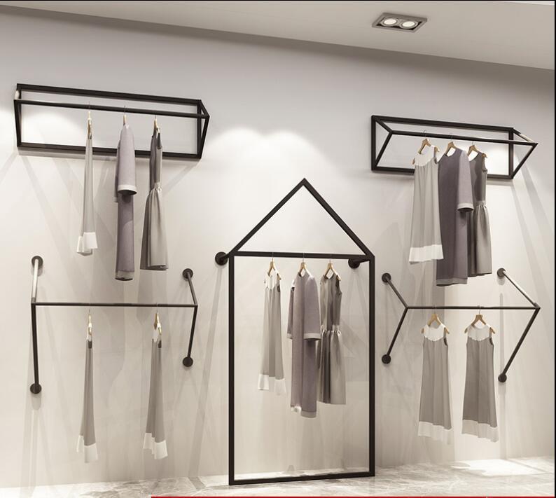 Simple display shelf floor clothes store display rack in Storage Holders Racks from Home Garden