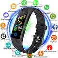 LIGE умный браслет для мужчин IP68 глубина водонепроницаемый спортивные часы умный фитнес-браслет кровяное давление пульсометр контрольный ша...