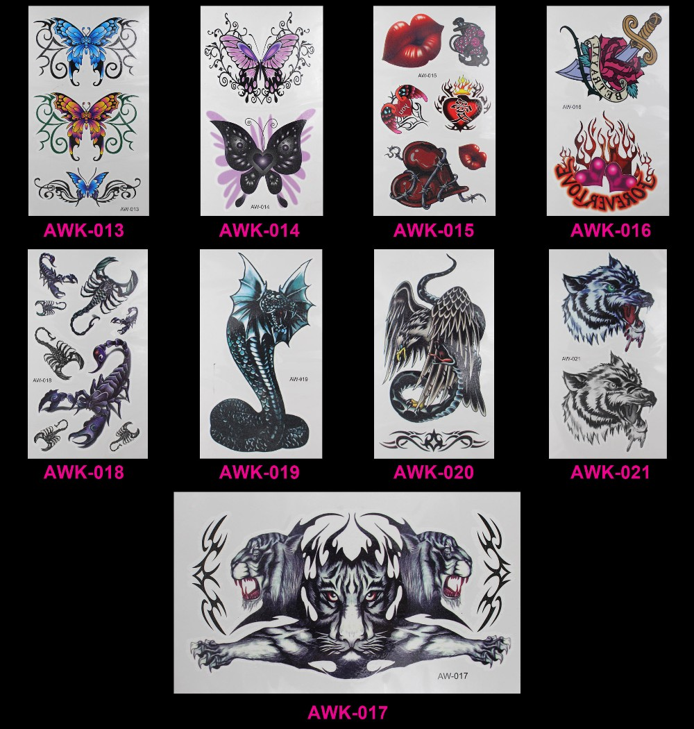 New Design Flash Removable Waterproof Gold Tattoos Metallic Temporary Tattoo Stickers Temporary Body Art Tattoo 30