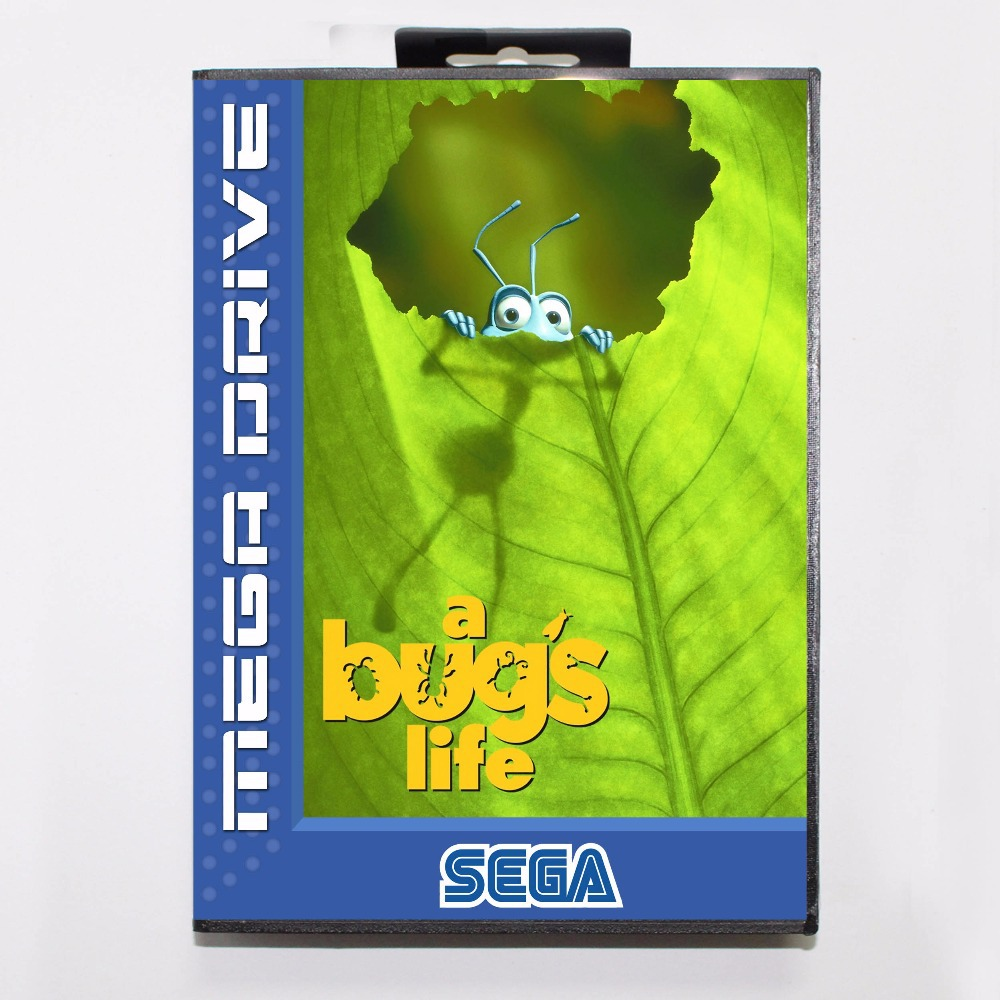 A Bug s Life  16 bit MD Game Card With Retail Box For Sega Megadrive / GenesisA Bug s Life  16 bit MD Game Card With Retail Box For Sega Megadrive / Genesis