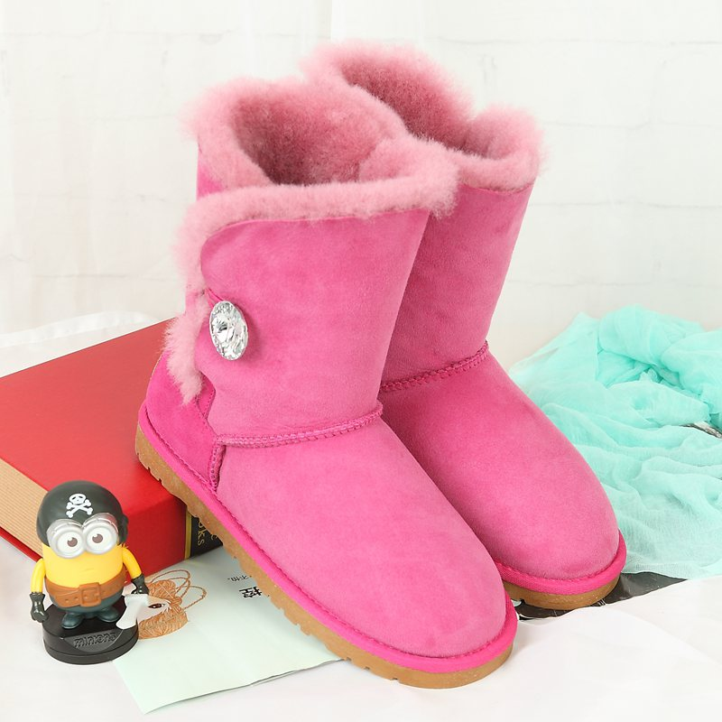 Free shipping!Australia Classic Nature Wool real sheepskin leather snow boots for women winter shoes High Quality Special offer 2016 australia genuine sheepskin leather