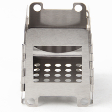 New Outdoor Portable Wood Stove Backpacking Survival Wood Burning Camping Stove Stainless Steel Lightweight Folding Cooking Camp