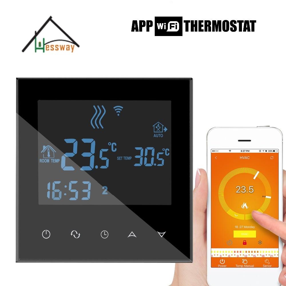 EU Programmable Touch Screen heating wifi thermostat wiht Double sensor programmable thermostat heating temp wifi lcd touch screen temperature control underfloor 16a 230v