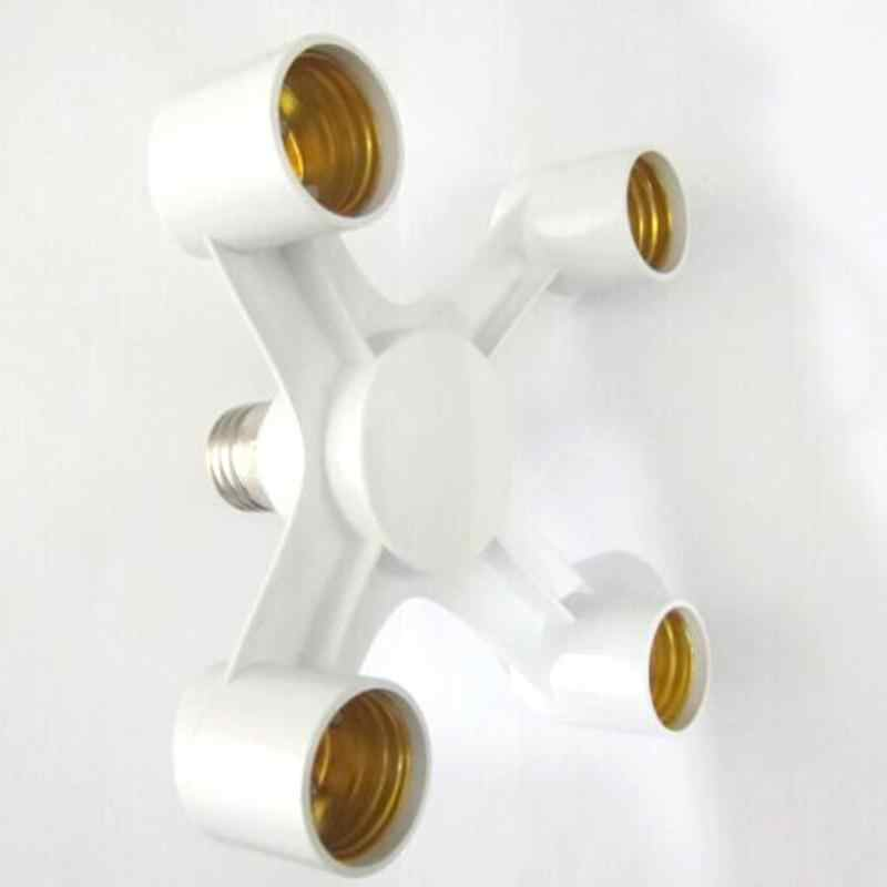 4 головки E27 розетка адаптер 4 в 1 100 Вт 85-285 в совместим с стандартная лампочка E27 основного расширительный Разъем патрон