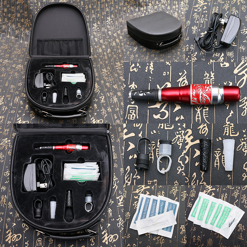 Permanent Makeup Eyebrow Pen Machine Kits Cosmetic Tattooing Tool Set MKT201-207 wm01 professional eyebrow tattooing machine kit