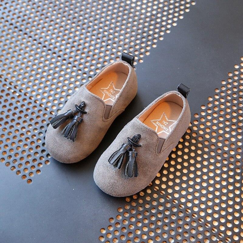 Children Leather Shoes 2017 Spring Tassel flat Baby Girl Shoe Children Toddler Kid Flat Slip On Fringe Loafer Girls Party Shoes toddler shoe gauge children foot measurer yellow