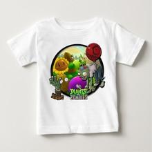 где купить 2018 children love zombies cartoon T T-shirt boy girl summer coat short sleeved T T-shirt children clothing по лучшей цене