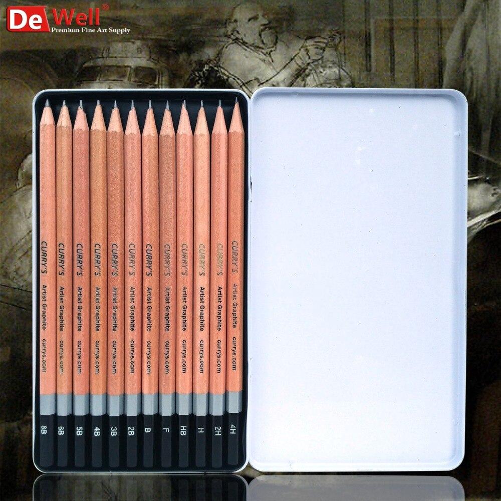 Artist Professional 12Pcs/set 4H 8B Graphite Sketch Pencil