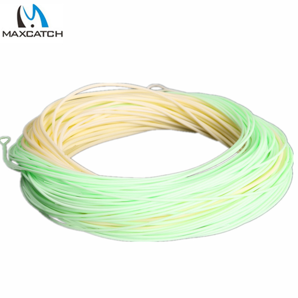 Maxcatch Fly Fishing Switch Line 5/6/7 / 8wt 100ft double color Fly line memancing Berat Forward FLOATING Fly line