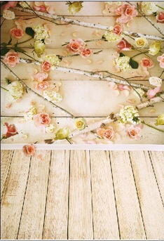 HUAYI Art fabric Flowers Wooden Floor Backdrop Photography For Newborn Drop Background CM-6698 huayi 5x5ft 1 5x1 5m art fabric vintage wooden floor wedding photography background newborn photo studio prop backdrop d 7436