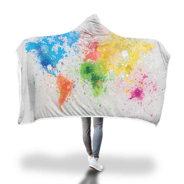 xc ushio newest wearable hooded throw blanket sofa couch bed cover