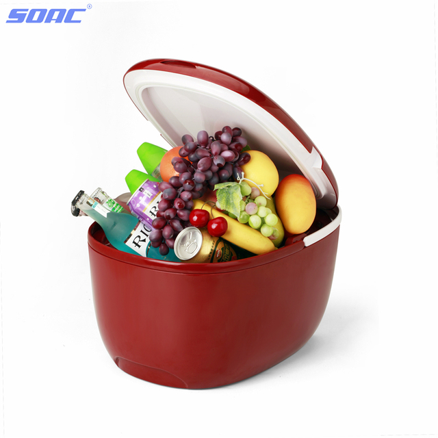SOAC Commercial Refrigerator Mini 12 Liter for Car Travel with Multi-Function Heating and Cooling 12V Support Bluetooth 3.0