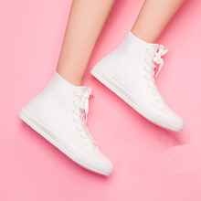 Women shoes fashion ladies rainboots high-top breathable lace-up flats waterproof ankle boots quality size 35-41 g01 plus size 35 46 high quality ankle women boots sping autumn flats lace up women work