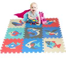 9 PCS Per Set Splicing Mobilization EVA Foam Puzzle Mats Kids Floor Puzzles Play Mat For Children Baby Play Gym Crawling Mats(China)