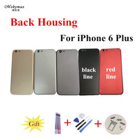 Chassis Back Housing Battery Cover Coque Fundas For IPhone 6 Plus 5 5 A1522 A1524 LOGO