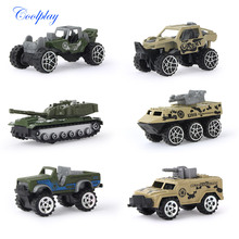 6 Pcs/set 1:64 Mini Diecast Toy Pull back Cars Metal Alloy Military Vehicles Series Multiple style the best gift for children