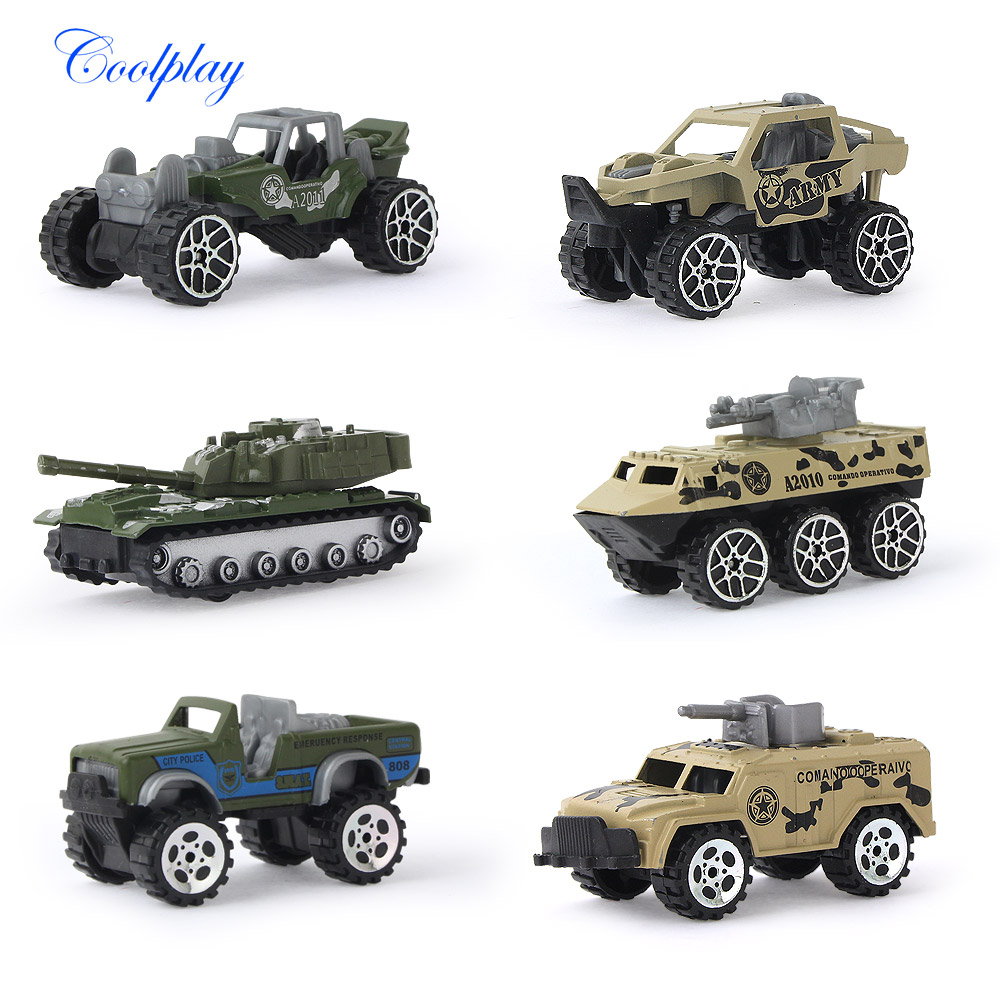 6 PCS 1:64 Scale Mini Diecast Toy Vehicles Sliding Cars Model Metal Alloy Military Model Cars Tank Vehicles For Kids } 1 43 peugeot 208 gti mini alloy model diecast cars toy vehicles limited edition craft messenger car