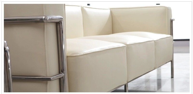 Le Corbusier Style LC3 Sofa 3-seat or Loveseat 2-seat  (6)