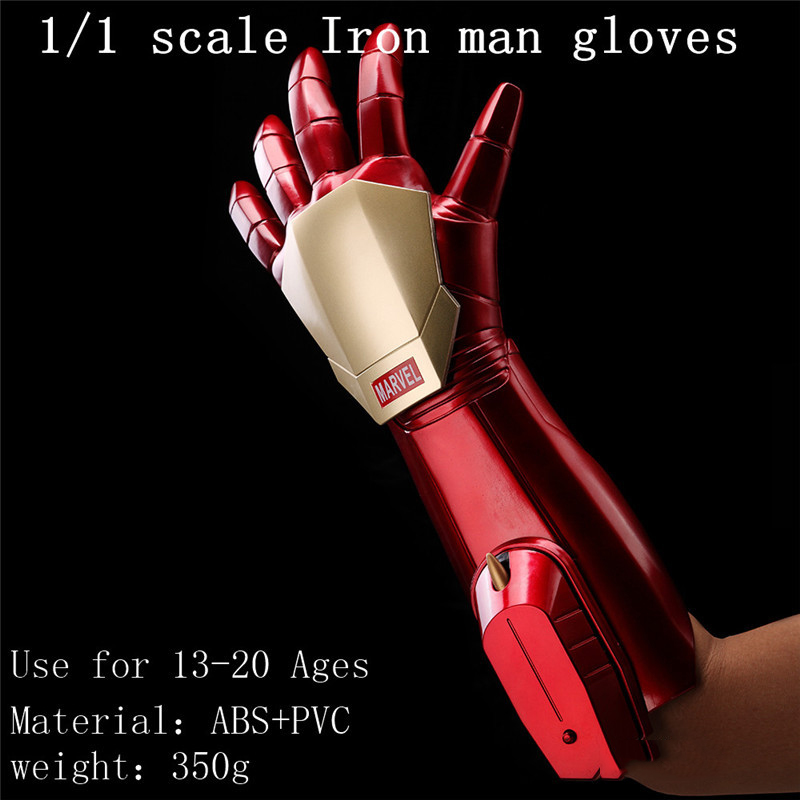 1:1 Scale The Avengers Iron Man Gloves Launch Laser Light Bullet Hand Cosplay Collction Model Toy Gifts