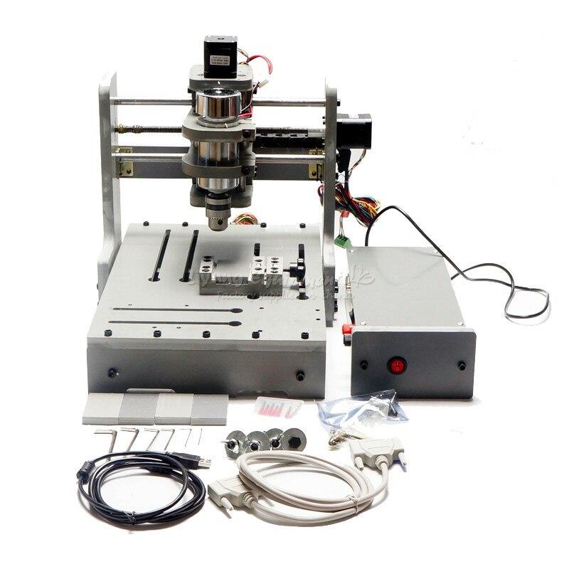 Mini bricolage CNC machine 3020 mach3 contrôle 300w pcb fraisage bois routeur USB port - 2