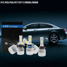 S2 LED Car Parts Car Headlight H1 H3 H4 H7 H11 H13 H27 9004 HB3 9006 HB4 9007 HB5 Bulb with 9007 H13 H4 3 Sides Lights Lamps(China)
