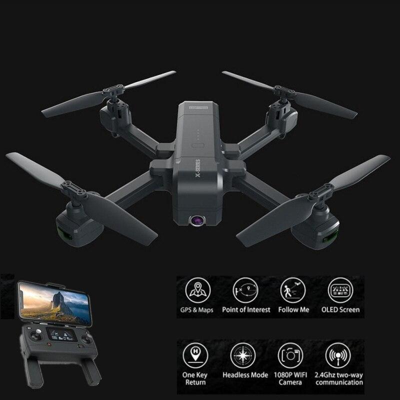 Nouveau professionnel pliable GPS WIFI FPV RC Drone 800 M 5G 1080 P Wifi Servo caméra GPS suivre moi piste de vol RC hélicoptère modèle