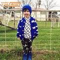 2016 Nova Primavera Outono Meninos Camisola Crianças Nuvem Padrão Camisolas Para Outono Cardigan Camisola de Malha Crianças Roupas Das Meninas Dos Meninos Do Bebê