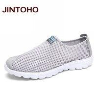 Jintoho/унисекс летние Обувь с дышащей сеткой Мужская обувь Легкий Для мужчин Туфли без каблуков модные Повседневное мужской Обувь Брендовая Дизайнерская обувь мужские лоферы