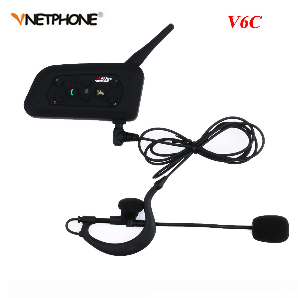 Vnetphone Professional  Full Duplex 1200M Referees Headset V6C Wireless BT Intercom Football Referee Interphone Earpiece