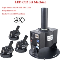 16x3 Вт Led RGB 3in1 Multi Угол CO2 Jet DMX Регулируемый Powercon этап CO2 устройства высокого Давление шланг multi Угол DJ CO2 пушки